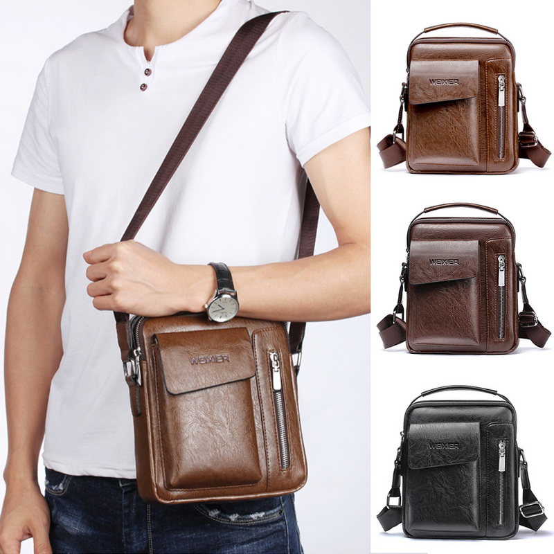 2020 Men Tote Bags Set Fashion Man Vintage Leather Messenger Bag Male Cross Body Shoulder Business Bags For Men Bolsas Male