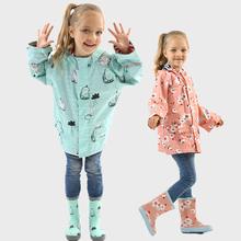 Capa de chuva crianças dos desenhos animados unicórnio impermeável casaco de chuva poliéster meninos roupas ao ar livre crianças meninas do bebê casaco de chuva