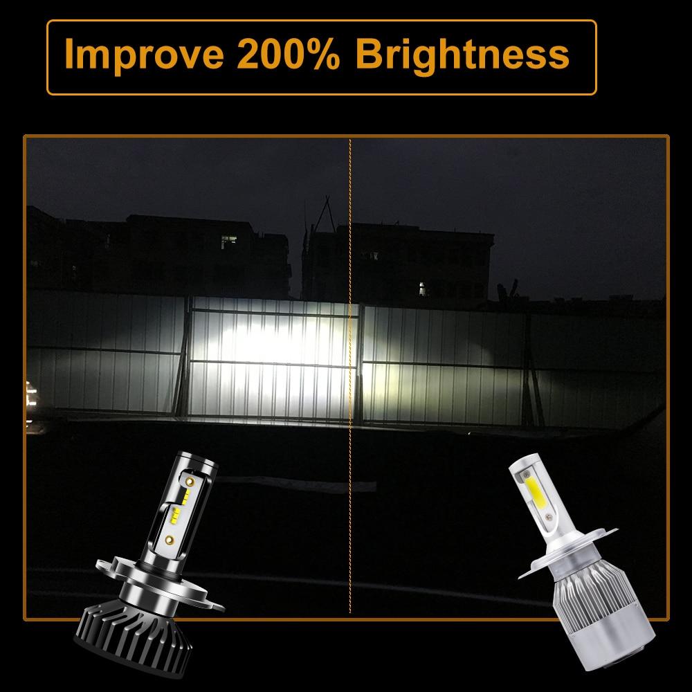 Uttril фар автомобиля H4 H7 светодиодный canbus H1 H3 H8 H9 H11 9005 HB3 9006 HB4 880 881 H27 ZES светодиод лампа 100W 12000LM Авто Противо-Туманная фара 12V