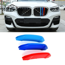 Car front Grilles for BMW F25 X3 auto Front Racing Grille Sport 3 colors Stripe Clip