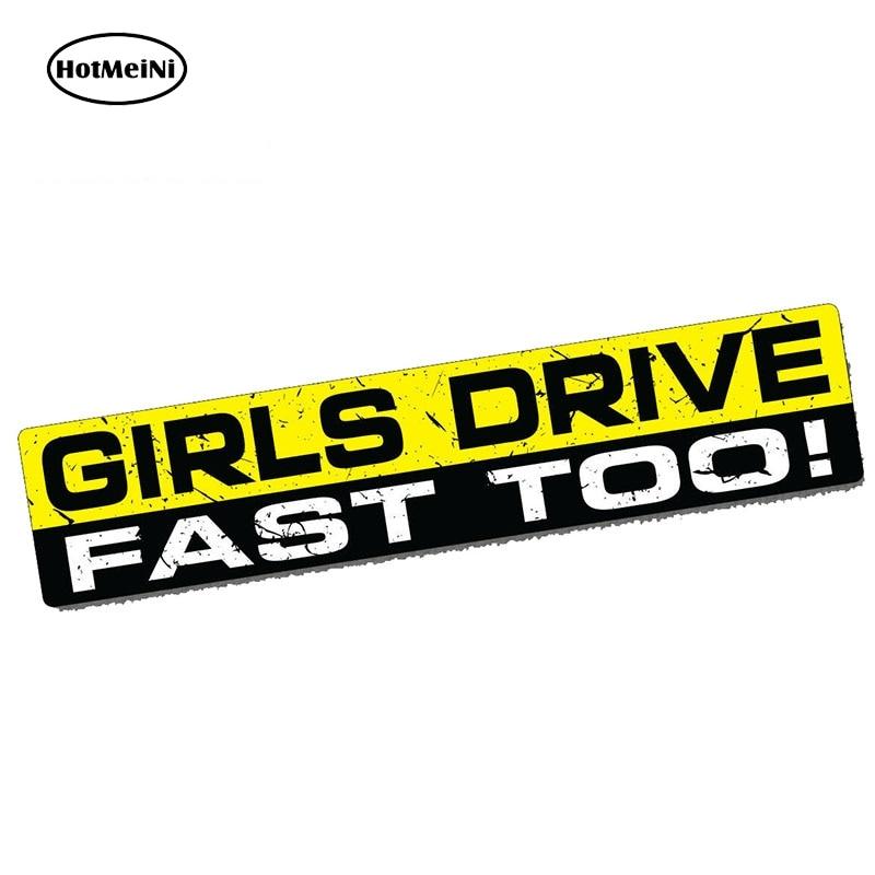 HotMeiNi 15cm x 3cm Car Sticker GIRLS DRIVE Funny Window Bumper Sticker Vinyl Decal Car JDM Racing Fast Waterproof Accessories