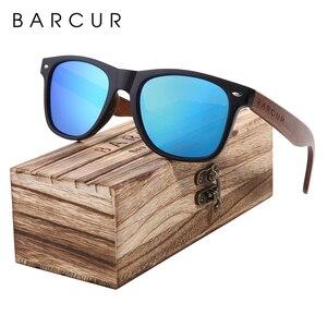Image 5 - BARCUR الجوز الأسود النظارات الشمسية الخشب الاستقطاب النظارات الشمسية الرجال نظارات الرجال UV400 حماية نظارات خشبية الأصلي مربع