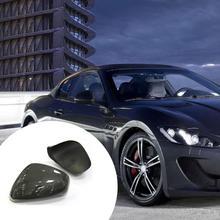 80% Hot Sales!!! 2Pcs Rear View Mirror Cover High Polished No Deformation Carbon Fiber Glossy Black Rear View Mirror Cap Sticker