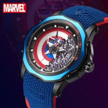 Watch Quartz Marvel Avengers Captain-America Disney Clock Male Official Waterproof Relogio