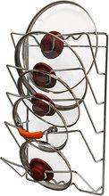 цена на Kitchen Wall Hanging Pot Cover Rack Five-Layer Pot Lid Storage Rack Metal Multifunctional Rack