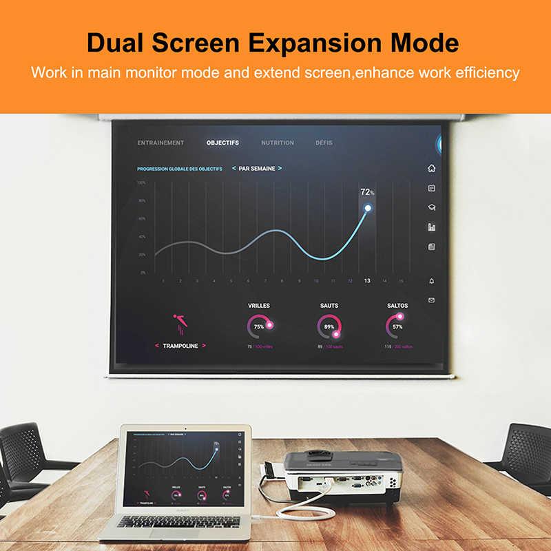 CABLETIME 2019 جديد وصول Thunderbolt 4K ميني ديسبلايبورت dp إلى محول HDMI HDMI DP كابل ل 1080P TV الكمبيوتر ماك بوك C056