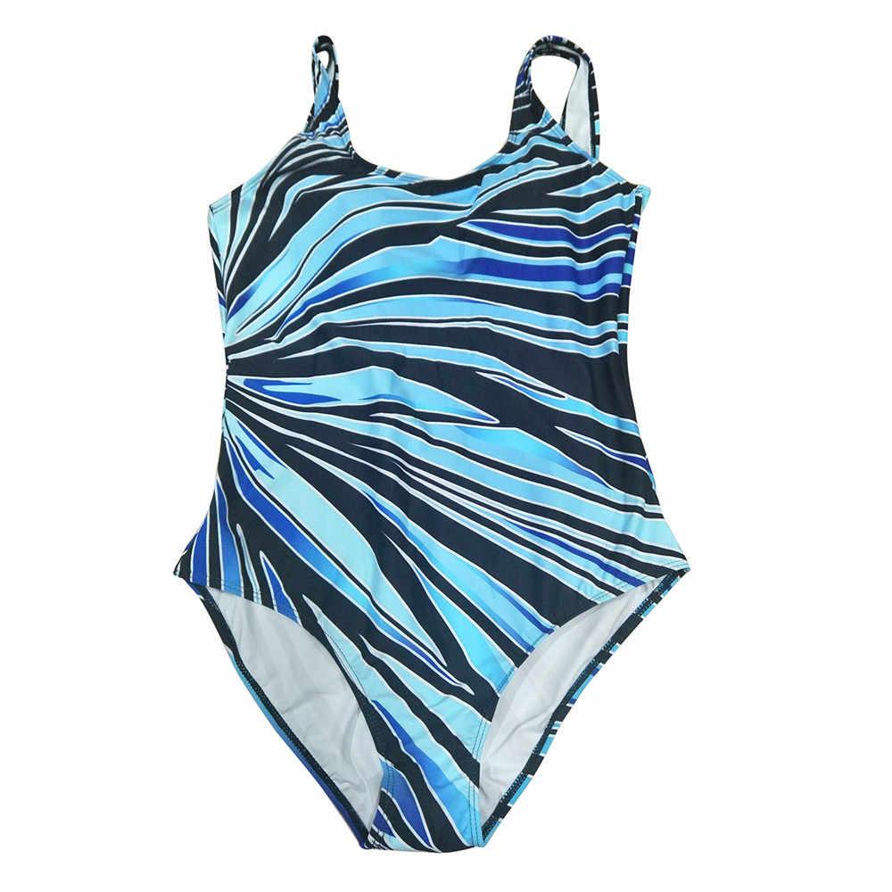 Bikini Più Il Formato Delle Donne di Un Pezzo del Costume Da Bagno Push-up Imbottito Costume Da Bagno Monokini Spiaggia A Righe di Stampa Costumi Da Bagno Delle Donne 2020 Bikini set