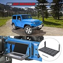 1PC Table Heavy Duty Rear Cargo Shelf Foldable Storage For Jeep Wrangler JK Tailgate