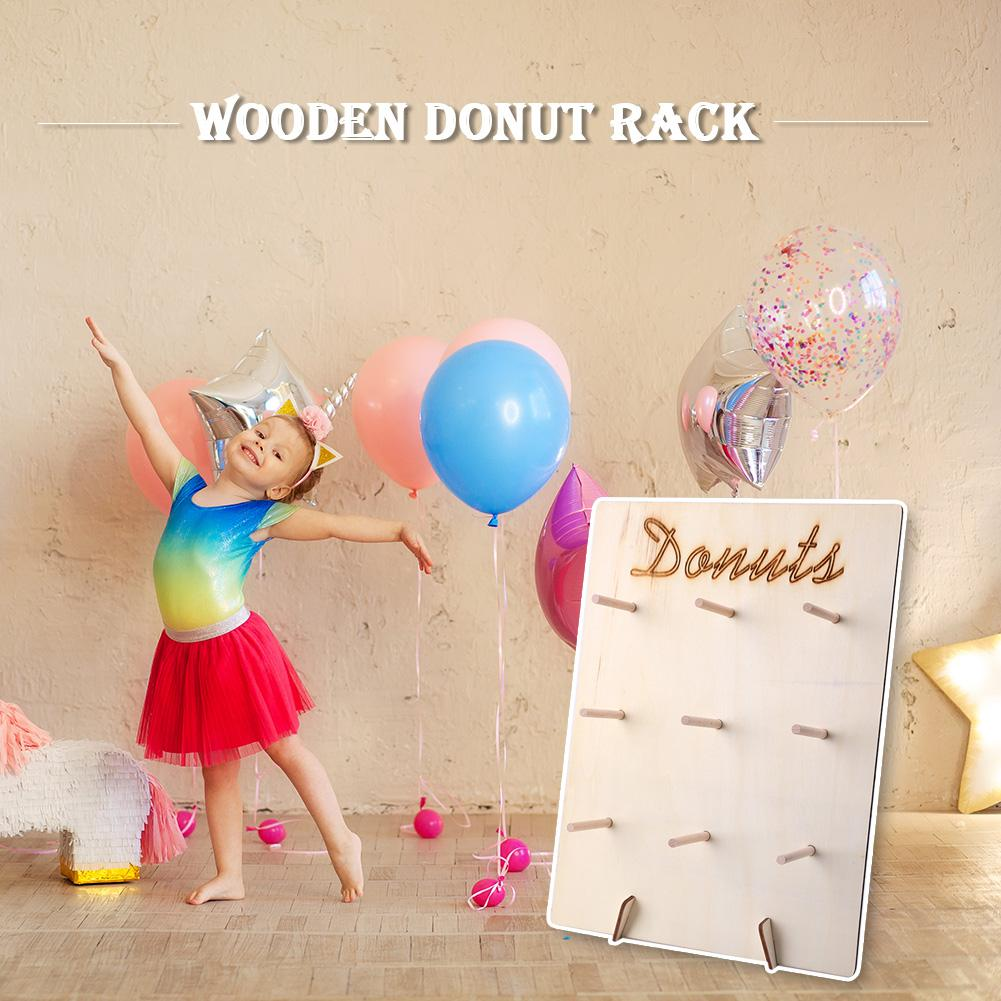 Party Gift Shelf Dessert Display Stand Wooden Donut Rack Party Decoration Necessary Household Holiday Party Accessories