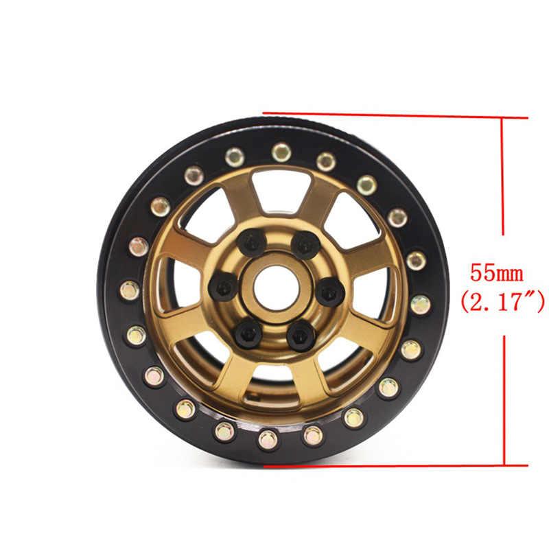 4PCSโลหะทอง 1.9 ล้อล้อHubสำหรับ 1/10 RC Crawler Axial SCX10 90046 D90 TF2