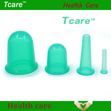 Tcare 4Pcs/Set Body Beauty Silicone Vacuum Cupping Cups Neck Face Back