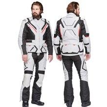 לטאטא מוטוקרוס חליפת עמיד למים אופנוע מעיל מקצוע Chaqueta Moto גברים רכיבה מירוץ מעיל + מכנסיים Moto הגנת