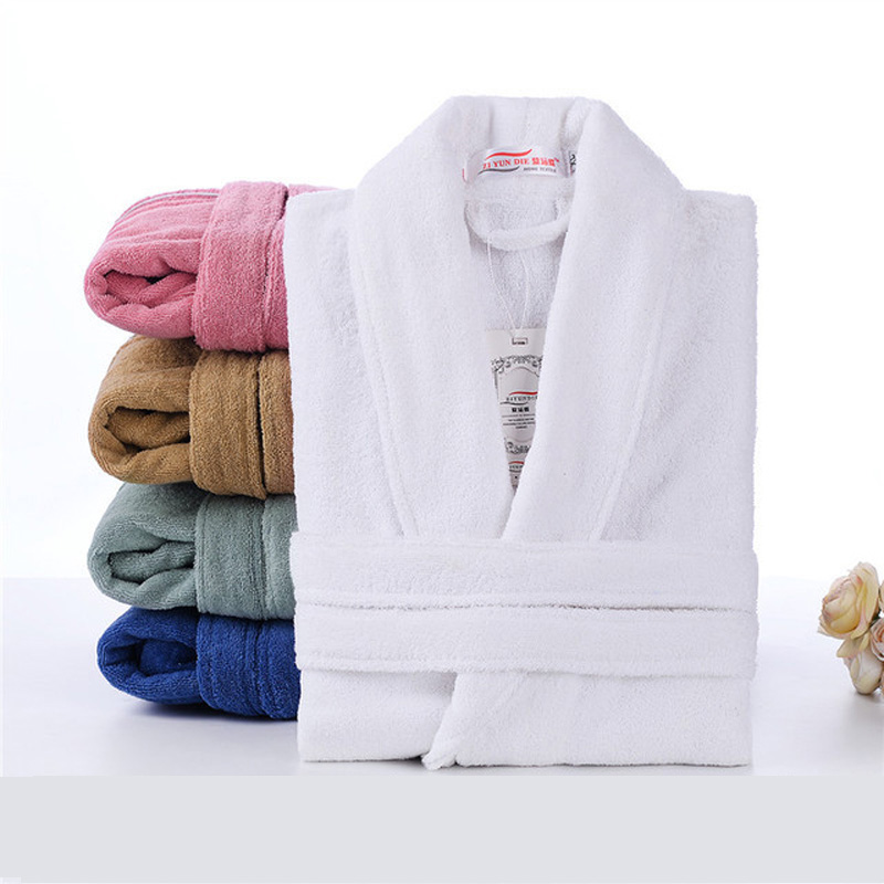 Bath-Robe Sleepwear Toweling-Terry Unisex Women Casual Lovers Home 100%Cotton Male And