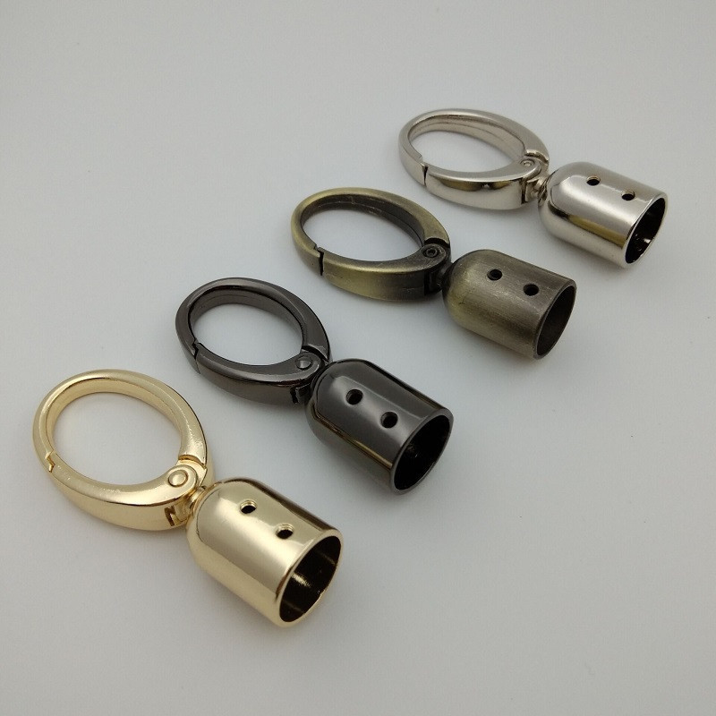 (10 Pieces/lot) DIY Handbag Decorative Leather Rope/Tassel Bell Spring Opening Bag Hook Hardware Accessories
