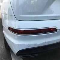 Welkerry carro auto capa para audi q7 2016 2017 2018 abs chrome traseiro cauda luz de nevoeiro guarnição