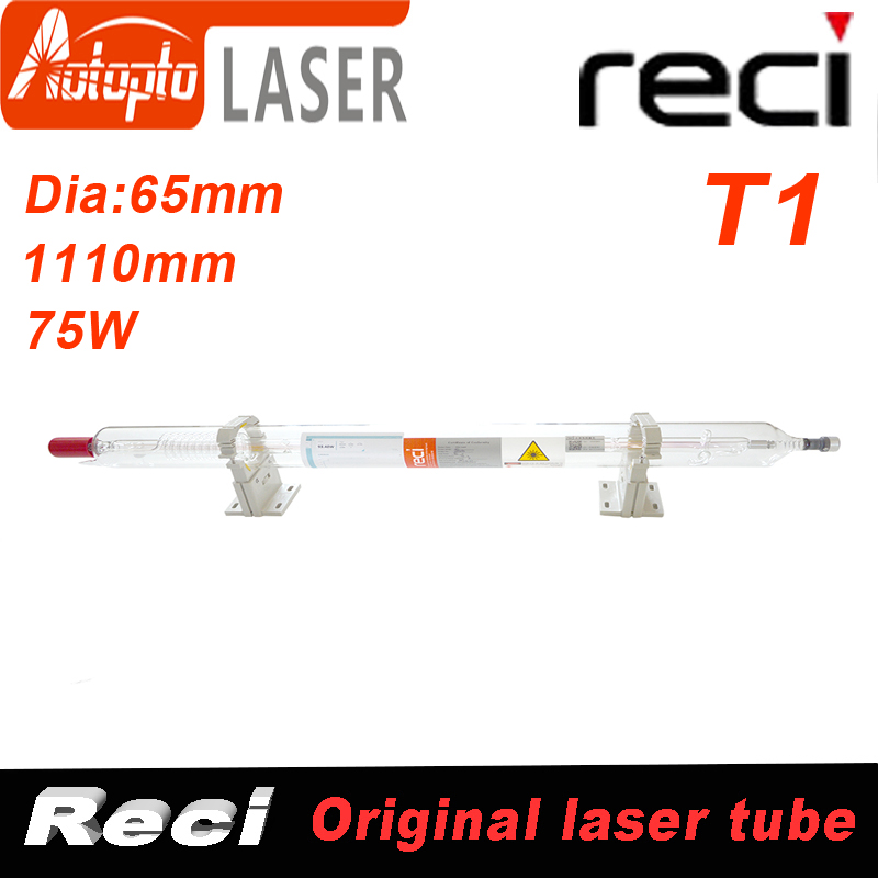 Co2 Reci T1  Laser Tube Tubes For Co2 Laser Cutting Engraving Machine Dia 65mm 75W/90W/100W