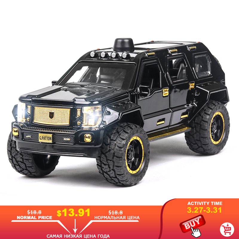 1:24 Hot New Chariot George Barton Car Model Armored Vehicle With Sound Light Alloy Toy Car Diecast Toy Vehicle Hummer Off Road