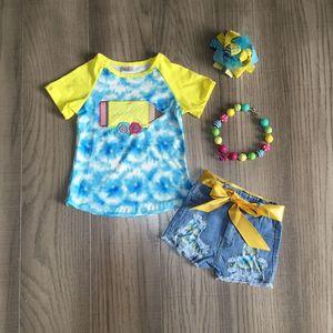 Dziewczynek letnie ubrania z serii