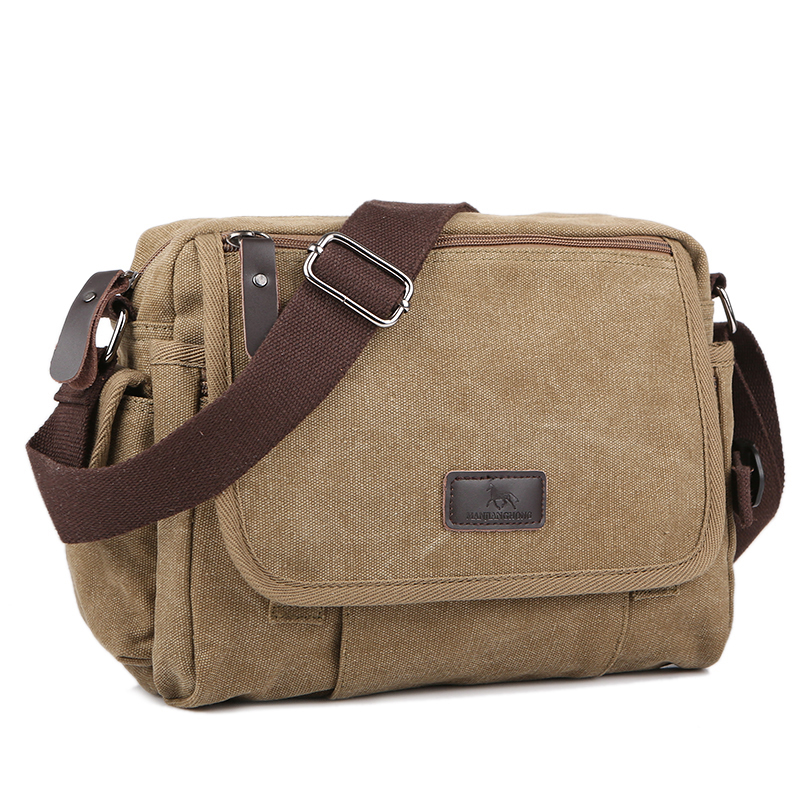 Men/'s Solid Outdoor Canvas Messenger Shoulder Bags Small Vintage Travel Satchel