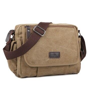 цена Casual Canvas Men Small Shoulder Bag Satchel Vintage Retro Crossbody Sling Bag For Men Leisure Male Messenger Bags Handbag 1106 онлайн в 2017 году