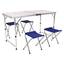 Table-Set Backpack-Table Picnic-Bag Camping Folding Type And 4-Stool Light-Weight Hiking-Fish