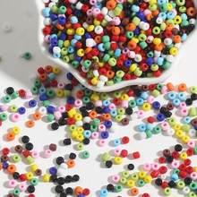 Misture a cor sólida 150-1000 pces 2/3/4mm encantos o espaçador de semente de vidro checo solta miyuki grânulos para diy colar pulseira jóias fazendo