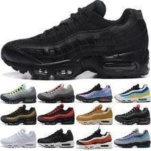 Zapatillas deportivas 95s para hombre y mujer, calzado deportivo para correr, Triple láser, color negro, blanco, fucsia, rojo, Orbit Bred, Aqua Neon, 36