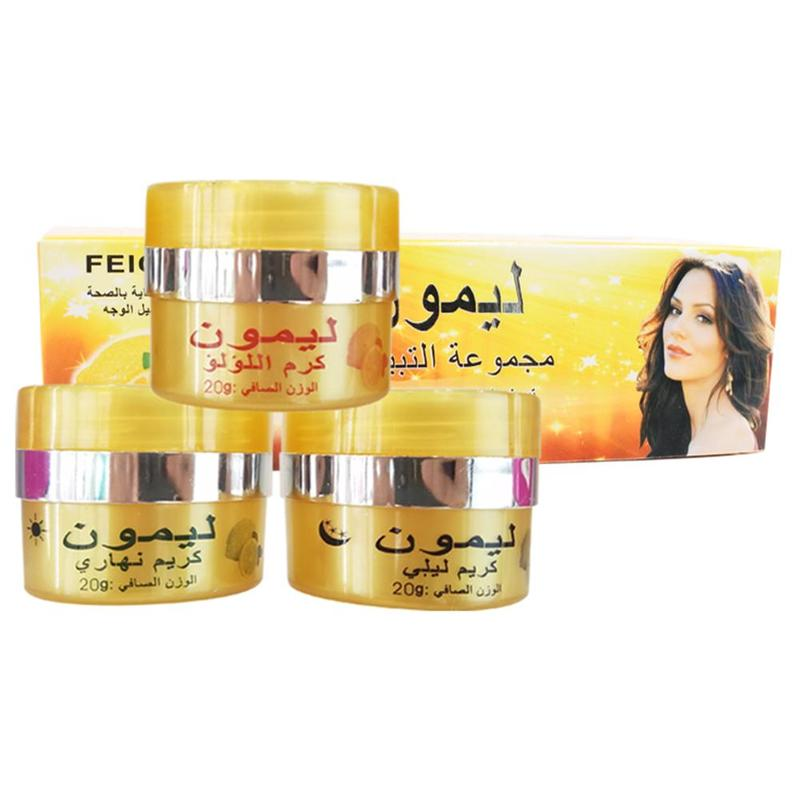 Effective Lemon Whitening Cream Remove Freckle Melasma Acne Spots Pigment Melanin Face Care Cream Care Day Cream Night Cream
