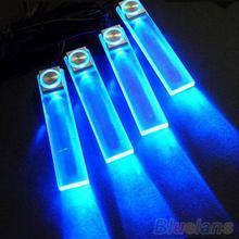4 In 1 12V blu lampada per auto carica LED luci interne per la decorazione del pavimento