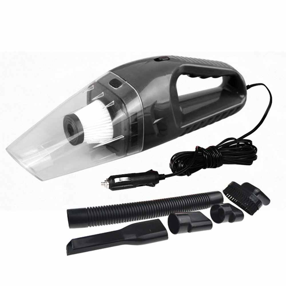 12V 120W Portable Handheld Stronger Suction Corded Wet /& Dry Automatic Car Vacuum Cleaner with 5m Cable for Pet Car Vacuum Cleaner Home Car Black