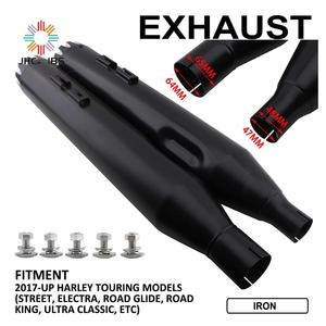 """Image 2 - Motorcycle 4.5"""" Exhaust Pipes Mufflers Slip On For Harley 2017 2018 2019 2020 Touring Models Street Electra Road Glide King ETC"""