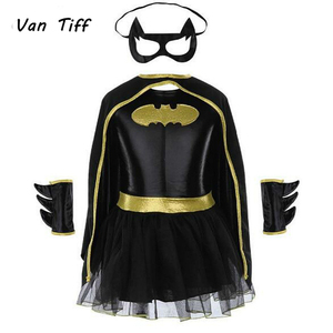 Image 1 - Super hero Film Die Batman Kostüm Kind Mädchen Batman Kinder Maske Kleid Batman Kostüme Super hero Sets Outfits Festival Party
