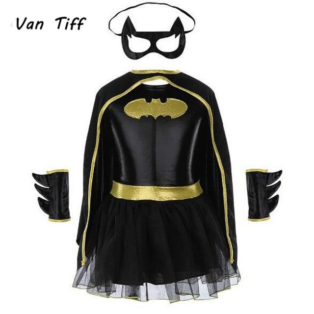 Super hero Film Die Batman Kostüm Kind Mädchen Batman Kinder Maske Kleid Batman Kostüme Super hero Sets Outfits Festival Party