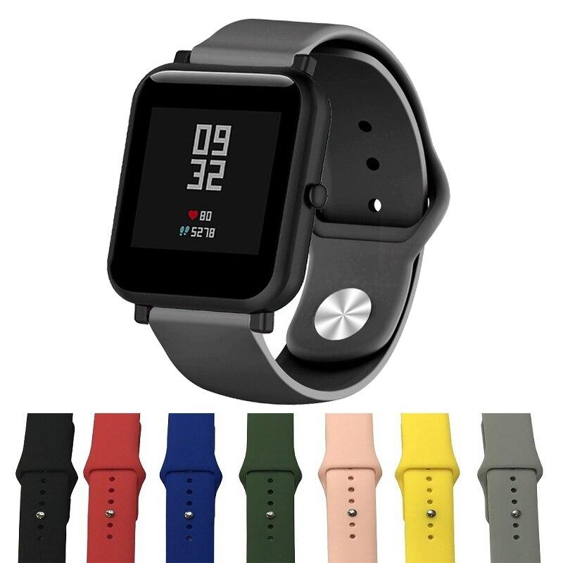 Silicone Soft Strap For Xiaomi Huami Amazfit Bip BIT Lite Youth Smart Watch Wrist Bracelet For Amazfit Bip Watchband 20mm Strap