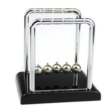 Educational Tecnologia Toys For Children Boys Kids Physics Science Toys Accessory Desk Toy Newton's Cradle Steel Balance Ball(China)