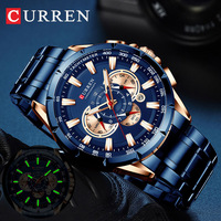 CURREN Men Watch 2019 Top Brand Luxury relogio masculino Sports Chronograph Men Wrist Watch Military For Meski Male Clock Quartz