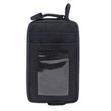 Мини-кошелек из ткани Оксфорд с отделением для карт и отделением для денег
