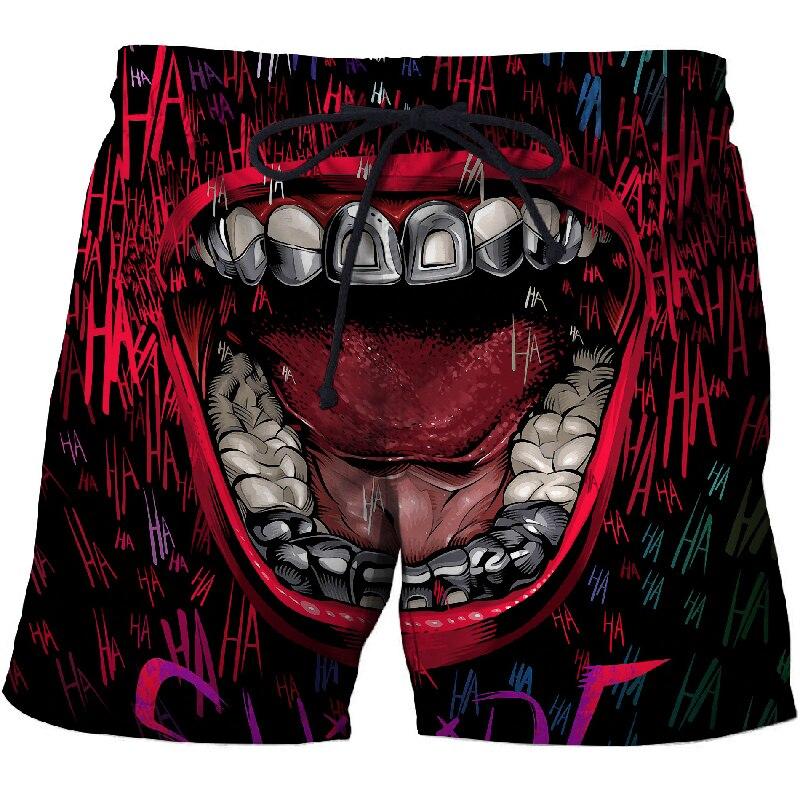 2019 New Clown Mouth 3d Printed Beach Shorts Men Shorts 3d Shorts Plage Summer Swimwear Quick Dry Pants Board Shorts Drop Ship