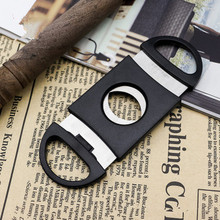 Knife Cutter Cigar Pocket Scissors Double-Blades Stainless-Steel 1PC Shears New