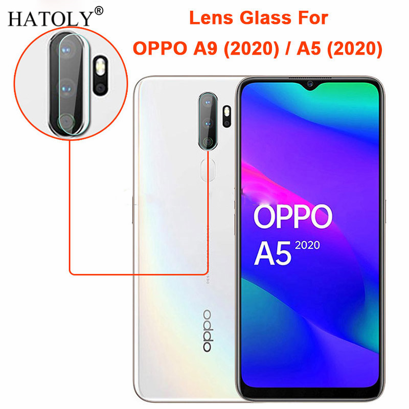 2PCS Clear Lens Tempered Glass For OPPO A9 (2020) Full Glued Back Camera Glass For OPPO A9 2020/A5 2020 Lens Protector Flat Film