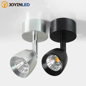 Mini ściemniania lampy ścienne LED 360 obracanie regulacja LED lampy punktowe 7W10W 85 ~ 265V LED sufitowe lampy halogeny tło oświetlenie ścienne tanie i dobre opinie JOYINLED ROHS CN (pochodzenie) W górę iw dół Jadalnia Łóżko pokój Foyer Badania Klin 90-260 v Pokrętło przełącznika