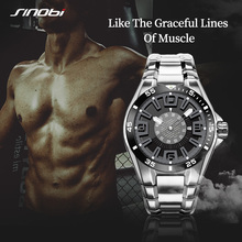 Sinobi Luxury Top Brand Clock Fashion Casual Man's Stainless Steel Watches Mens Rolexable Quality Quartz Wristwatches Relogio 19 good quality fasion mens ip gold plating quartz wristwatches stainless steel watches 3 colors available