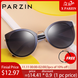 Image 1 - PARZIN 럭셔리 편광 선글라스 여성 경량 TR90 프레임 코팅 미러 렌즈 여름 여성 선글래스 브랜드 디자이너