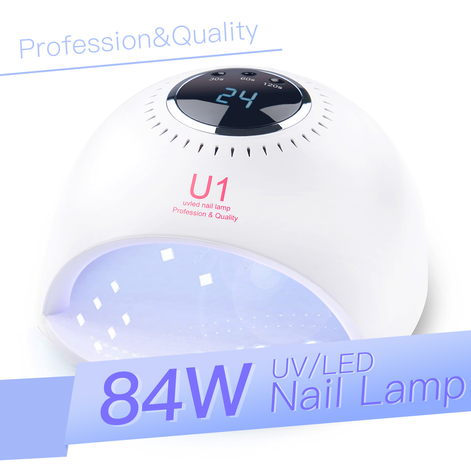 UV LED Nail Lamp  42 Light Beads LED 84W Nail Dryer Curing Lamp With Whitening Function Automatic Sensor 3 Timer Touch Control