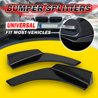 Pair Universal Car Front Bumper Lip Deflector Diffuser Spoiler Splitter Canard Lip For BMW W204 E90 E92 For Benz For Audi A4 B8