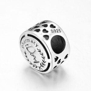 Новые 925 пробы серебряные успешные карьеры аптека символ Бусины Подходят оригинальный LYNACCS ювелирные изделия с бриллиантами