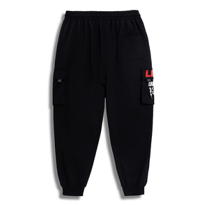 Image 5 - בתוספת גודל 7xl 6xl 5xl מכנסיים מטען גברים מוצק צבע שחור Loose מקרית Jogger כיס אלסטי מותניים קרסול אורך מכנסיים