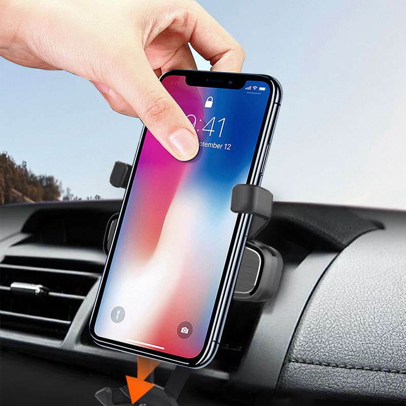 Gravity Car Phone Holder Upgrade This Is One Holder Phone Mount Car Holder Support Smartphone Voiture Iphone X Xs Samsung S10