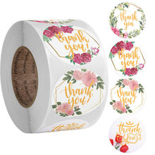 Gift Sealing Stickers 500pcs Thank you Love Design Diary Scrapbooking Stickers Festival Birthday Party Gift Decorations Labels