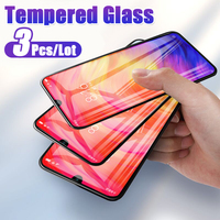 3Pcs/Lot Screen Tempered Glass Film For Xiaomi Redmi 4X 5 Plus 7A Note 7 6 5 Pro K20 Pro Protective Glass Protector Full Cover